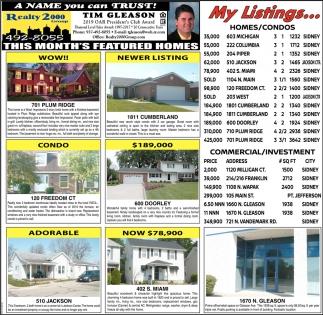 My Listings...