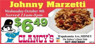 Johnny Marzetti $6.49