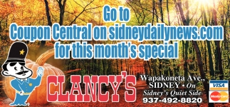 Go to Coupon Central on sidneydailynews.com for this month special
