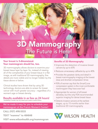 3D Mammography - The Future is Here!