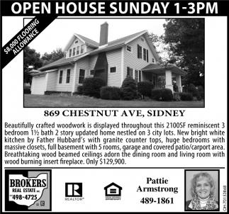 Open House - 869 Chestnut Ave, Sidney