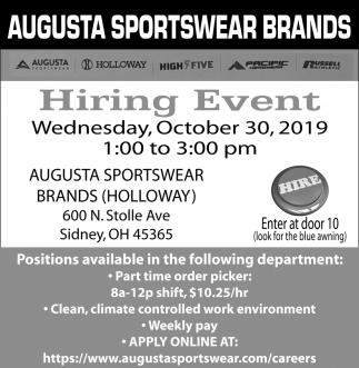 Hiring Event - October 30