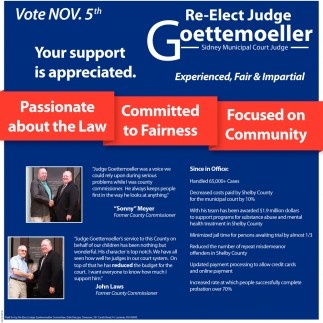 Re-Elect  Judge Goettemoeller - Vote Nov. 5