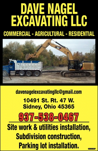 Site work, utilities installation, Subdivision construction, Parking lot installation