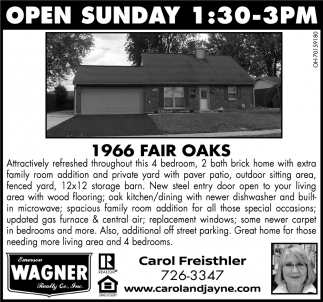 Open Sunday - 1966 Fair Oks