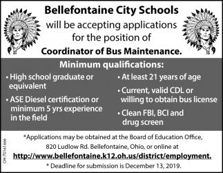 Coordinator of Bus Maintenance