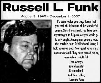 In Memory of Russell L. Funk