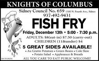 Fish Fry December 13th