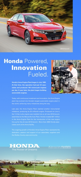 Honda The Power Of Dreams Manufacturing Ohio