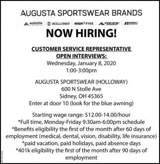 Now Hiring! - Customer Service Representative