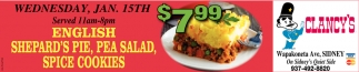 $7.99 English Shepard's Pie