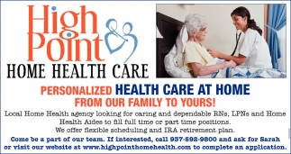 Personalized Health Care At Home From Our Family To Yours!