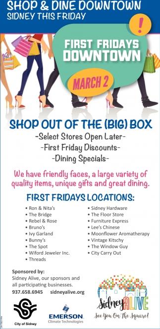 Shop & Dine Downtown