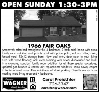 Open House - 1966 Fair Oaks