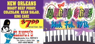 New Orleans Roast Beef Poboy $7.99