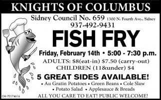 Fish Fry - February 14th