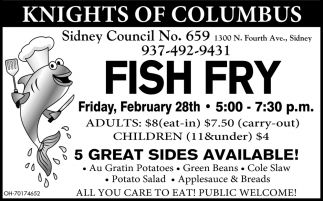 Fish Fry - February 28th