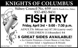 Fish Fry - April 3rd