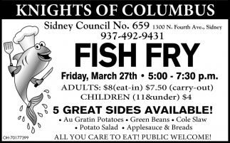 Fish Fry - March 27th
