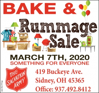 Bake & Rummage Sale - March 7th