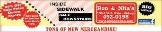 Inside Sidewalk - Sale Downstairs