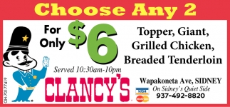 Choose Any 2 For Only $6
