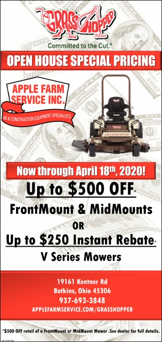 Open House Special Pricing