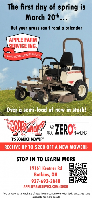 Receive up to $200 off a new mower
