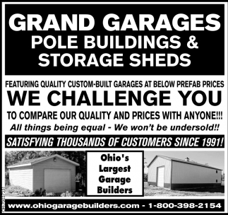 Quality Custom Built Garages at Below Prefab Prices