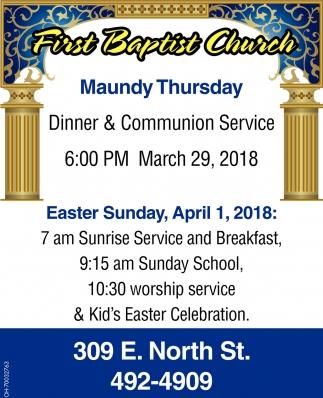 Dinner & Communion Service