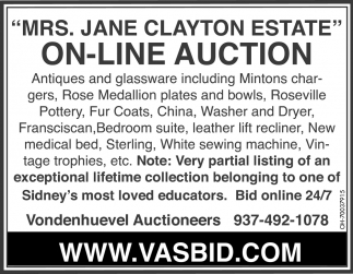 Mrs. Jane Clayton Estate