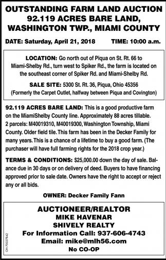 Outstanding Farm Land Auction