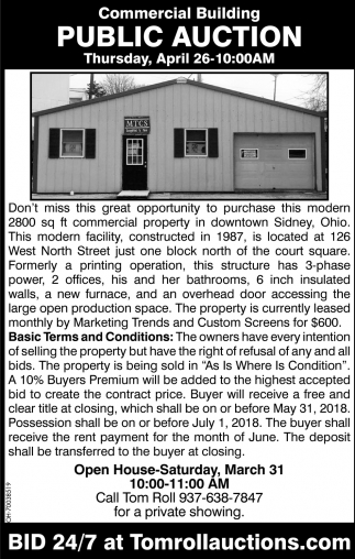 Commercial Building Public Auction