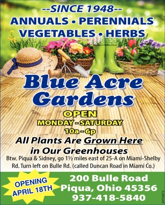 Annuals, Perennials, Vegetables, Herbs