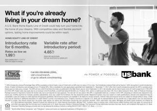 Home Equity Line of Credit, U.S. Bank