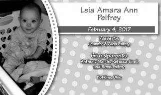 Leia Amara Ann Pelfrey