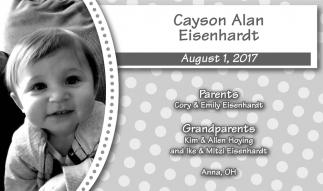 Cayson Alan Eisenhardt