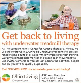 Underwater Treadmill Therapy
