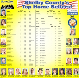 Shelby County's Top Home Sllers!