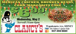 Mexican Chicken, Drunken Beans, Corn, Margarita Cake