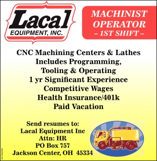 Machinist Operator