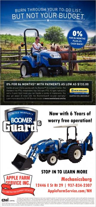 Limited warranty Boomer Guard 6