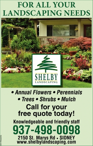 Annual, Perennials, Trees, Shrubs, Mulch