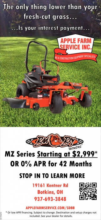 Bad Boy MZ Series Starting at $2,999*