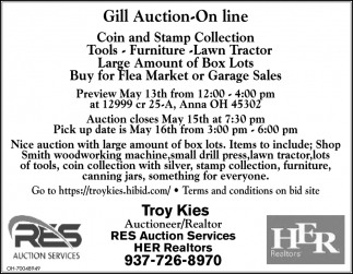 Gill Auction On Line