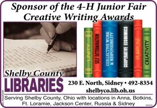 Sponsor of the 4-H Junior Fair Creative Writing Awards