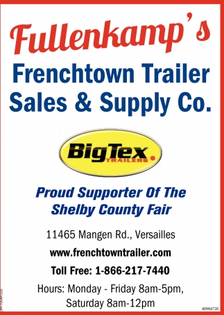Proud Supporter of the Shelby County Fair