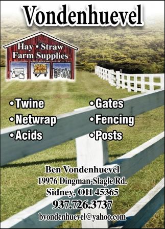 Hay, Straw, Farm Supplies