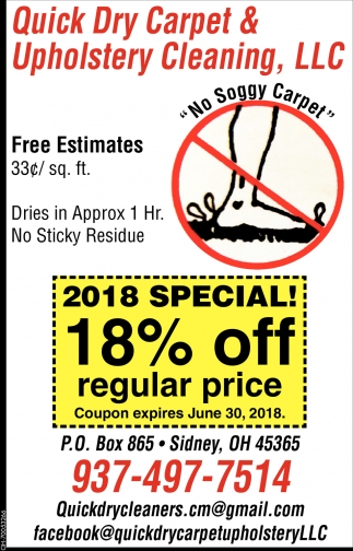 2018 Special 10% off regular price