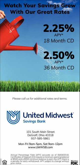 Watch your savings grow with out great rates